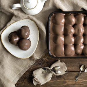 Olasz Profiterol Vaschetta Scuro (Csokoládés)